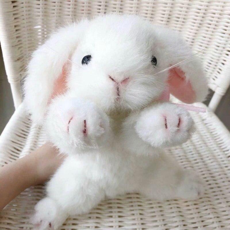 High level quality plush rabbit stuffed animal bunny toy simulation lifelike baby dolls for kids toys for children home decor